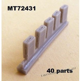 Ammoboxes for 2 cm Flak 30/38. 40 parts. - Modell Trans 72431