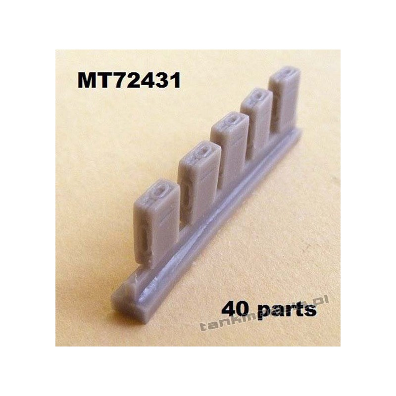 Ammoboxes for 2 cm Flak 30/38. 40 parts. - Modell Trans MT 72431