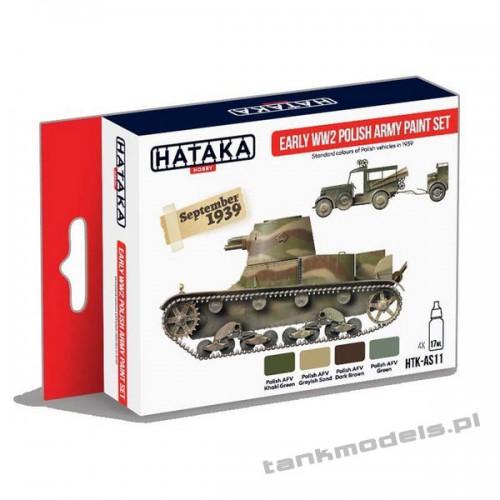 Eary WWII Polish Army 1936-1939 paint set - Hataka AS11