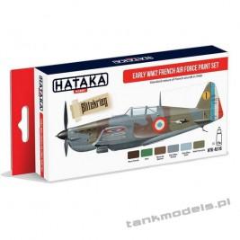 Early WW2 French Air Force paint set (6x17ml) - Hataka HTK-AS16