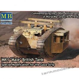 """MK I """"Male"""" British Tank, Special Modification for the Gaza Strip - Master Box 72003"""