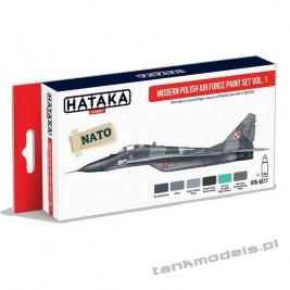 Modern Polish Air Force paint set vol. 1 - Hataka AS17
