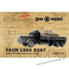 Faun L900 D587 Heavy Cargo Truck - FPW Model 72004