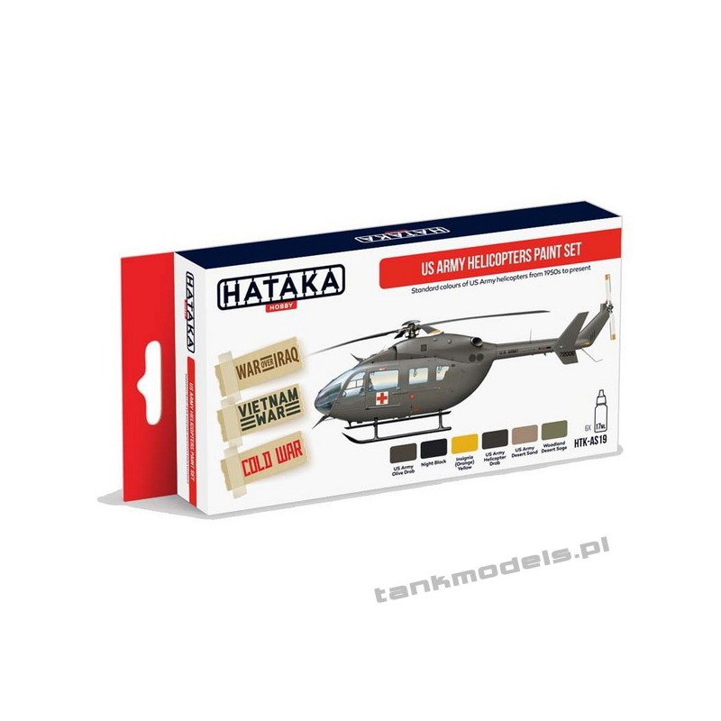 US Army Helicopters Paint Set (6x17ml) - Hataka Hobby AS19