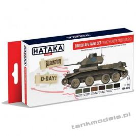 British AFV paint set (WW2 European colours) - Hataka Hobby AS22