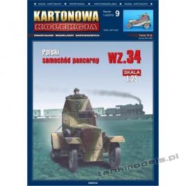 Wz. 34-II polski samochód pancerny - Kartonowa Kolekcja 9