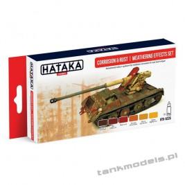 Corrosion & rust | weathering effects set (paint set 6x17ml) - Hataka Hobby AS26