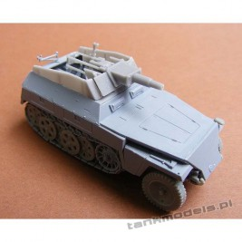 "SdKfz 250/8 neu with 7,5 cm KwK 37 ""Stummel"" - Modell Trans 72606"