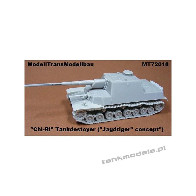"""Japan Tank destoyer """"CHI-RI"""" (Jagdtiger Concept) - Modell Trans 72018"""