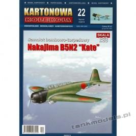 """Nakajima B5N2 """"Kate"""" - Kartonowa Kolekcja 22"""