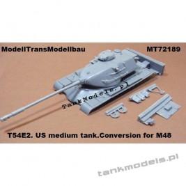 T54E2 US medium tank - Modell Trans 72189