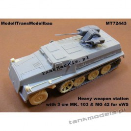 Heavy weapon station with 3 cm MK. 103 & MG 42 for sWS (MACO) - Modell Trans 72443