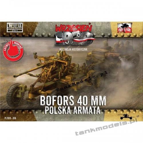 Bofors 40 mm Polish AA Gun - First To Fight PL1939-36