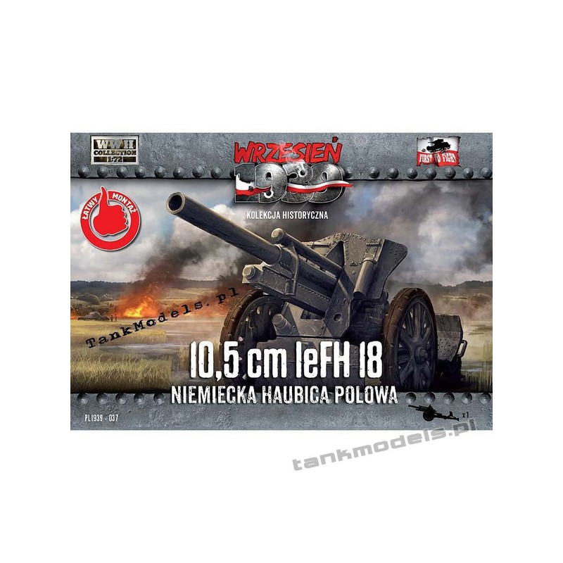 10,5cm leFH 18 German field howitzer - First To Fight PL1939-37