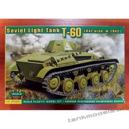 T-60 GAZ production (floating wheels, model 1942) - ACE 72541