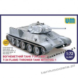 T-34 Fire-throwing with FOG-1 - Unimodels 441