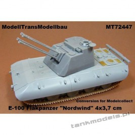 "E-100 Flakpanzer ""Nordwind"" 4 x 3,7 cm (conv. for Madelcollect) - Modell Trans 72447"