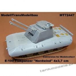 "E-100 Flakpanzer ""Nordwind"" 4 x 3,7 cm (conv. for Madelcollect) Panzerwaffe '46 - Modell Trans 72447"