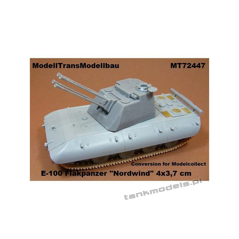 """E-100 Flakpanzer """"Nordwind"""" 4 x 3,7 cm (conv. for Madelcollect) - Modell Trans 72447"""