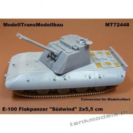 "E-100 Flakpanzer ""Südwind"" 2x5,5 cm (conv. for Madelcollect) - Modell Trans 72448"