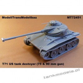 T71 US tank destoyer - Modell Trans 72451