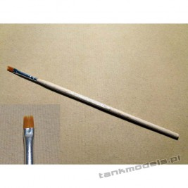 S-116 - Flat brush, synthetic (gold) no. 2 - Walecki 116-2
