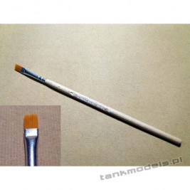 S-116 - Flat brush, synthetic (gold) no. 4 - Walecki 116-4
