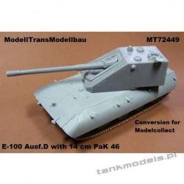 E-100 Ausf. D with 14cm Pak 46 (konw.) - Modell Trans 72449