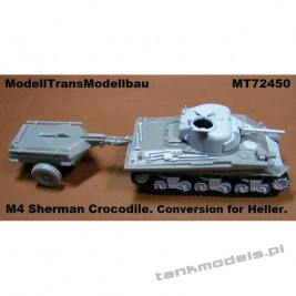 M4 Sherman Crocodile (konw. Heller) - Modell Trans 72450