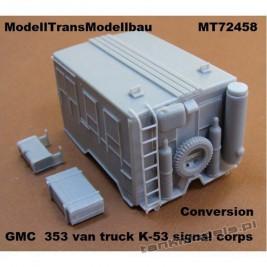 GMC CCKW 353 van truck K-53 signal corps (konw.) - Modell Trans 72458