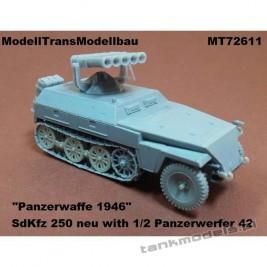Sd.Kfz. 250 neu with 1/42 Panzerwerfer 42 - Modell Trans 72611