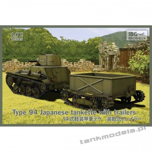 Type 94 Japanese tankette with trailers (2 trailers) - IBG 72045