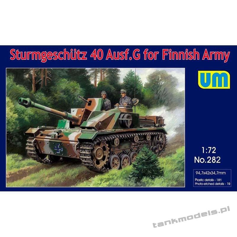 Stug 40 Ausf G Finnish Army - Unimodels 282