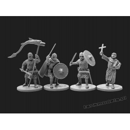 The Anglo-Saxons 2 - knights & priest - V&V Miniatures R28.6