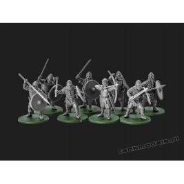 Vikings 1 - warriors with swords / axe / arc - V&V Miniatures R28.1