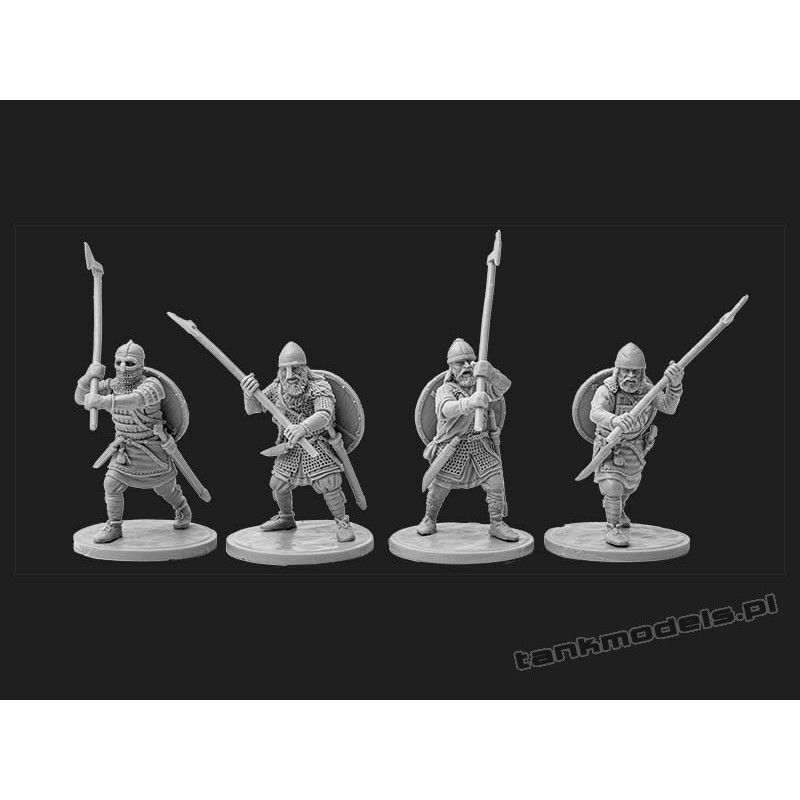 Vikings 3 - elite warriors with broad axes - V&V Miniatures R28.7