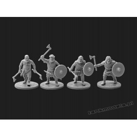Vikings 4 - warriors with axes - V&V Miniatures R28.8
