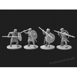 Vikings 5 - warriors with spears - V&V Miniatures R28.9