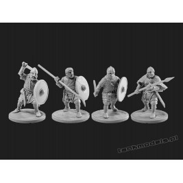 Vikings 6 - warriors with spears - V&V Miniatures R28.10