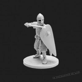 Norman infantryman 1 - V&V Miniatures R28.15.1