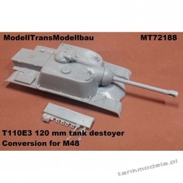 T110E3 tank destoyer (conv. for M48) - Modell Trans 72188