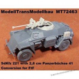 Sd.Kfz. 221 with 2,8 cm Panzerbüchse 41 (conv. for FTF) - Modell Trans 72463