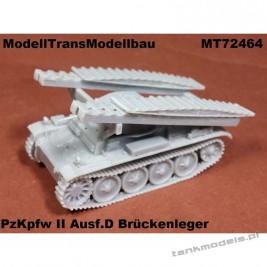 Panzer II Ausf D Brückenleger - Modell Trans 72464