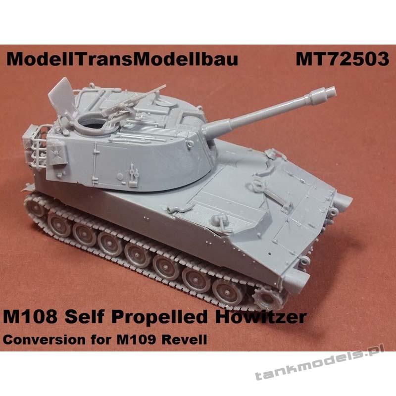 M108 Self Propelled Howitzer (conv. for Revell) - Modell Trans 72503