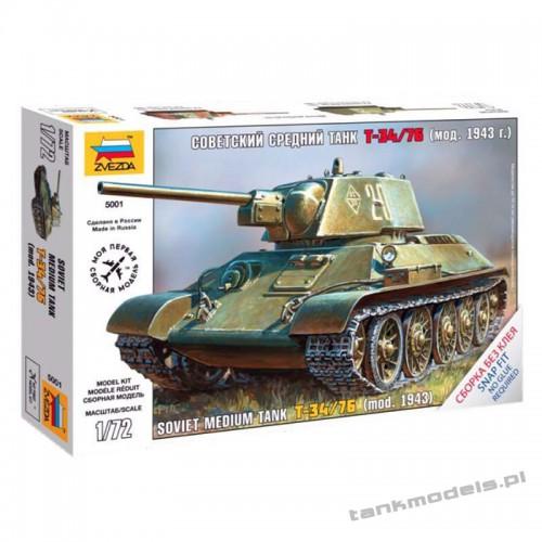 T-34/76 mod. 1943 - Zvezda 5001
