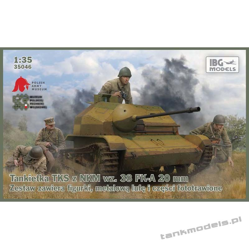 TKS Tankietka z działkiem NKM 20 mm - IBG 35046