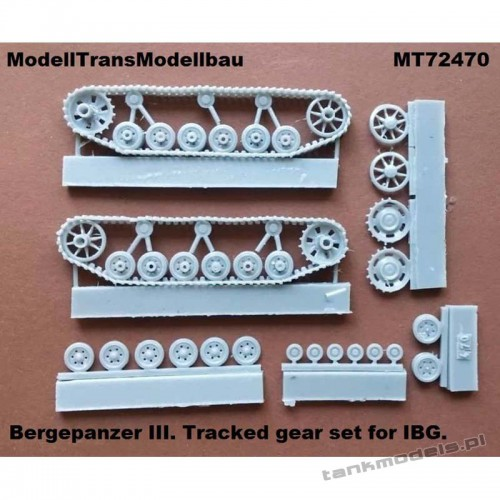 Bergepanzer III Tracked gear set for IBG - Modell Trans 72470