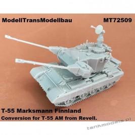 It Psv 90 SPAAG Finnish AA tank (conv. for T-55AM Revell) - Modell Trans 72509