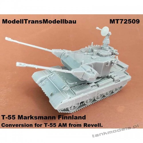 It Psv 90 SPAAG Finnish AA tank (conv. for T-55AM Revell) - Modell Trans 72509