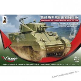 M5A1 Stuart Mk. VI (późny) 1 Dyw. Pancerna gen. Maczka - Mirage Hobby 726089